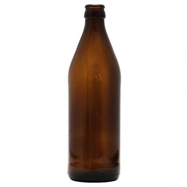 16-ounce Amber Beer Bottle