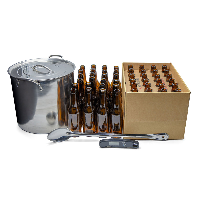 Raise Your Game Upgrade Kit - Beer Bottles, Kettle, Digital Thermometer & Spoon