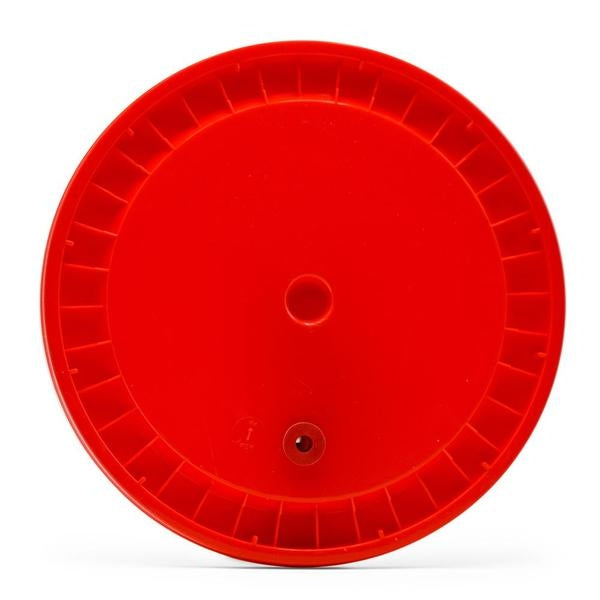 Grommeted Lid For 6.5 Gallon Bucket - Red