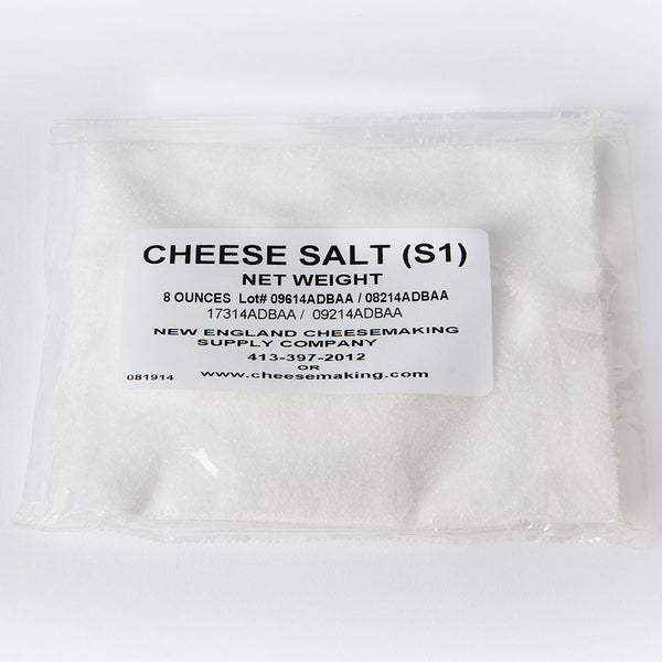 Pure Flake Non-Iodized Cheese Salt - 8 oz.