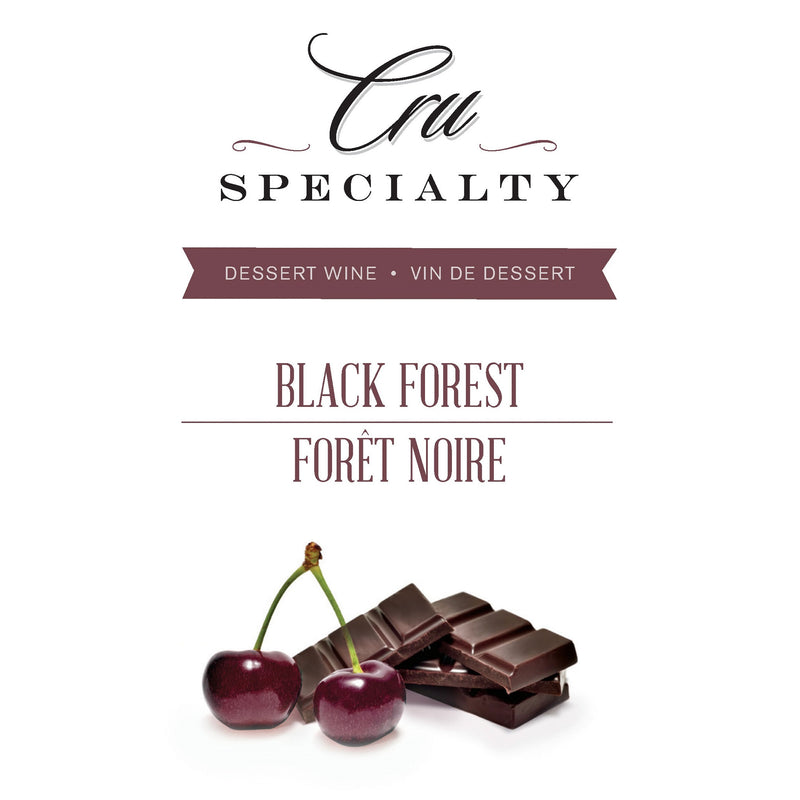 Black Forest Dessert Wine Bottle Label