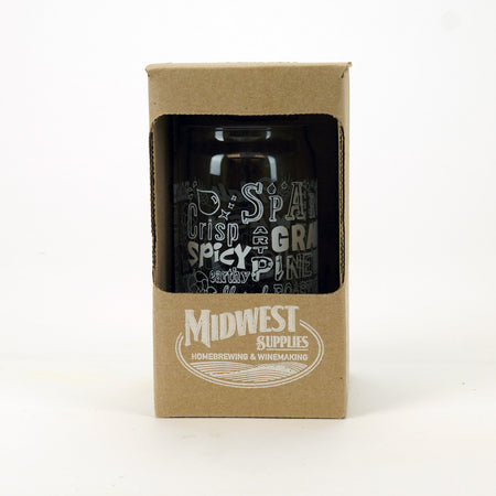 Midwest Beer Kit Can Glass in its packaging