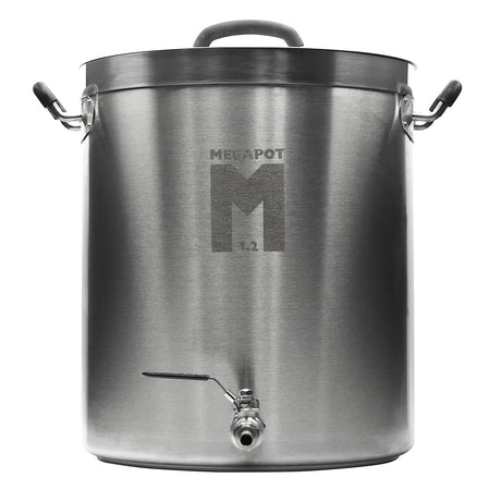 8-Gallon MegaPot 1.2™ Stainless Steel Brewing Kettle with a ball valve