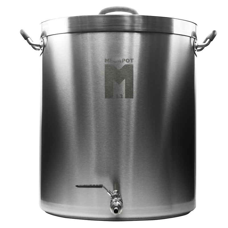 20 Gallon MegaPot 1.2™ Stainless Steel Brewing Kettle with ball valve spigot