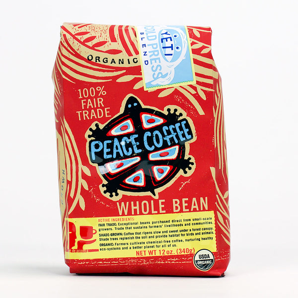 Peace Coffee: Yeti Cold Press Whole Beans Medium Roast