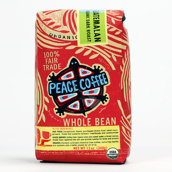 Peace Coffee: Organic Guatemalan Whole Beans Dark Roast