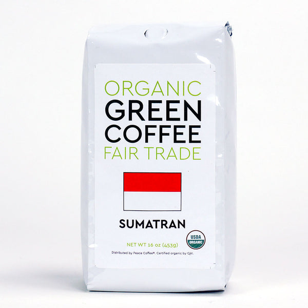 Peace Coffee: Sumatra Fair Trade Green Coffee Beans