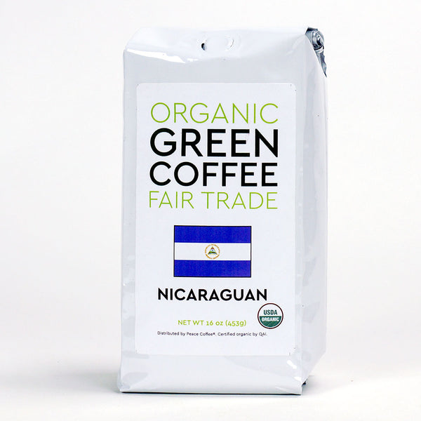 Peace Coffee: Nicaraguan Fair Trade Green Coffee Beans