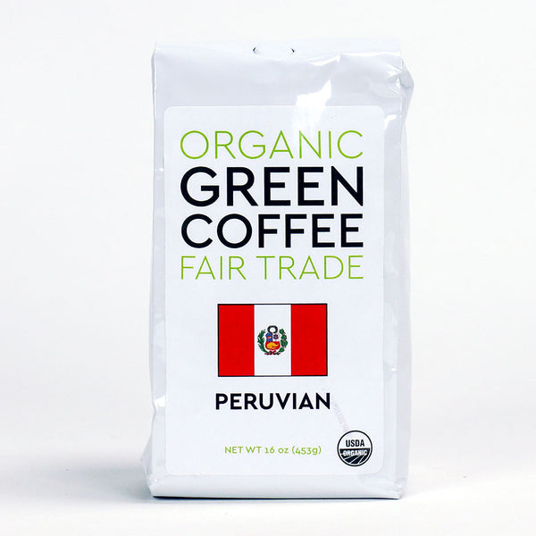 Peace Coffee: Peruvian Fair Trade Green Coffee Beans
