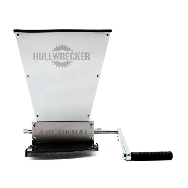 Hullwrecker™ 2-roller Grain Mill with Base fully assembled
