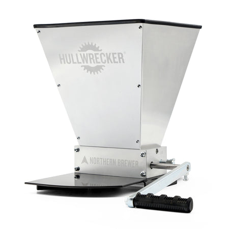 Angled-view of the Hullwrecker® 2-roller Grain Mill
