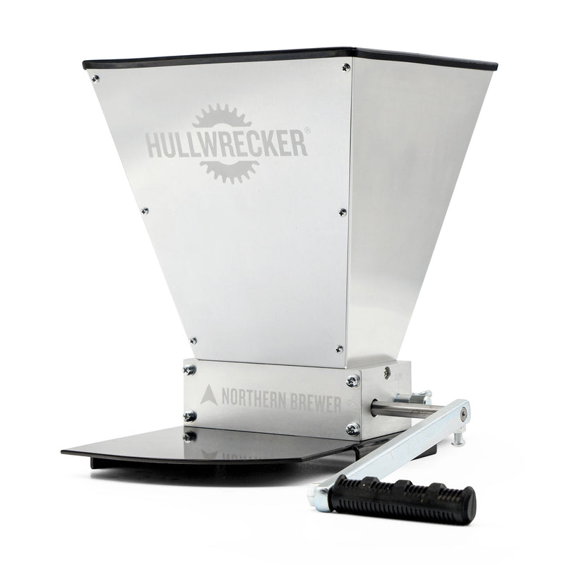 Hullwrecker™ 2-roller Grain Mill w/ Base Angle