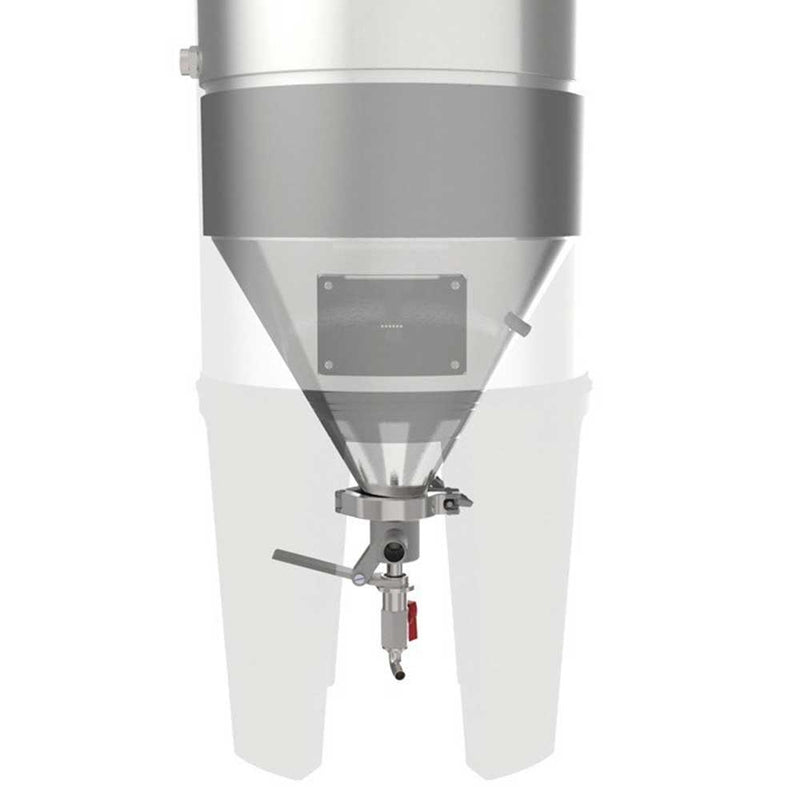Diagram of the Grainfather Conical Fermenter Dual Valve Tap