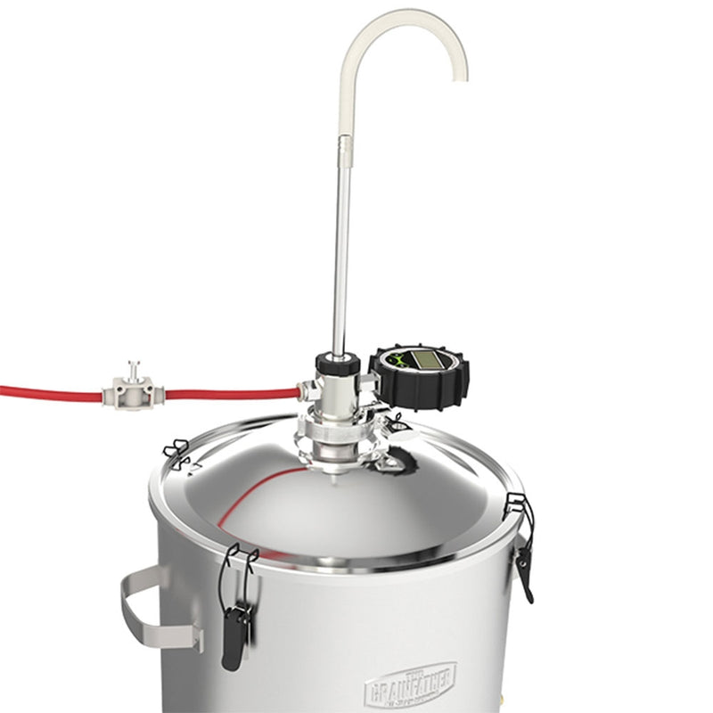 The conical fermenter pressure transfer connection attached to the grainfather