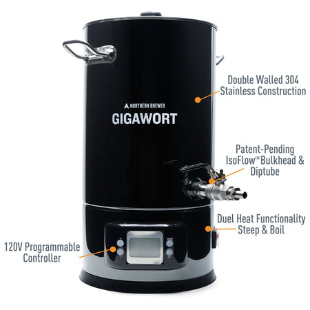 Gigawort™ Electric Brew Kettle Specs and Details