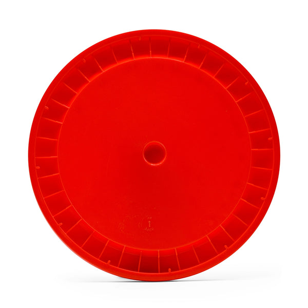 Solid Plastic Lid for 6.5 Gallon Fermenter - Red