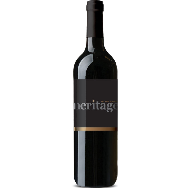 Okanagan Valley Meritage with skins wine kit bottle with label