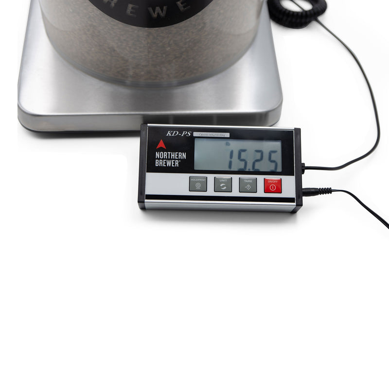 Digital Grain Scale with bucket in place