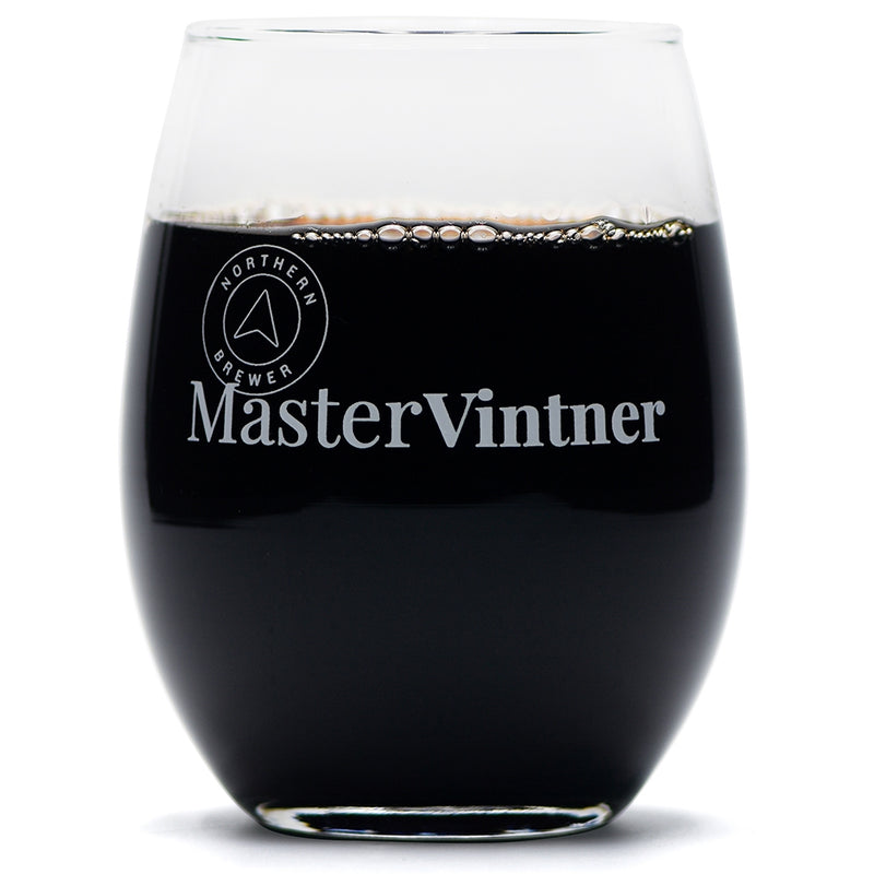 Master Vintner 21 oz. Stemless Wine Glass Full