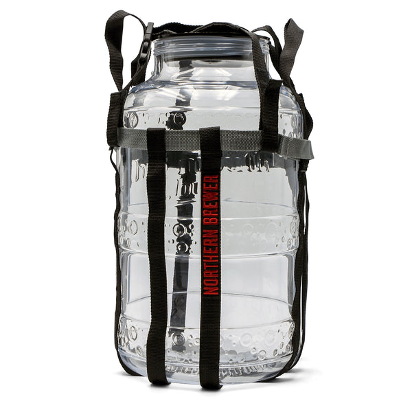 Big Mouth Bubbler 5 Gallon Glass Fermenter with Harness