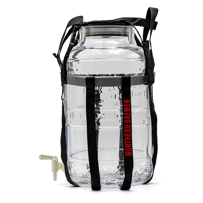 Big Mouth Bubbler 5 Gallon Glass Siphonless Fermenter with Harness