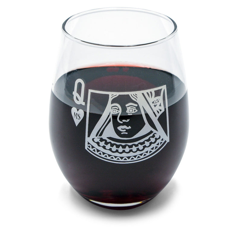 Wine Queen Stemless 15 Oz. Glass