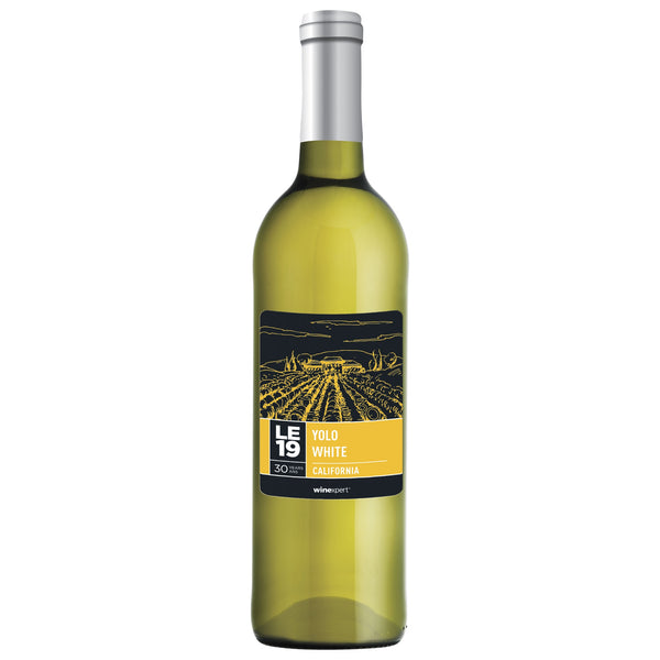 LE19 Yolo County White Blend Wine Bottle Label