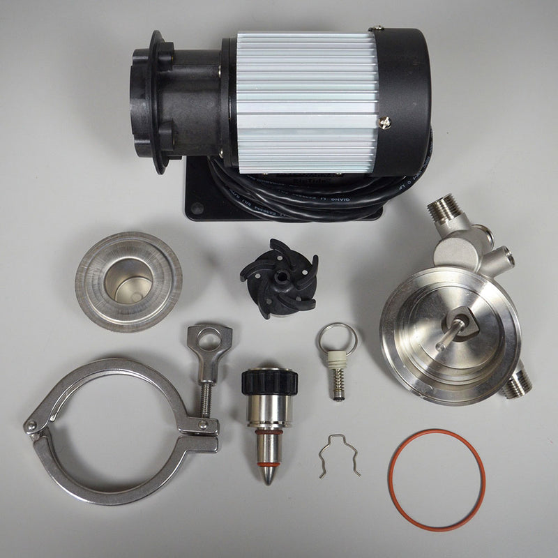 The Blichmann RipTide brewing pump disassembled