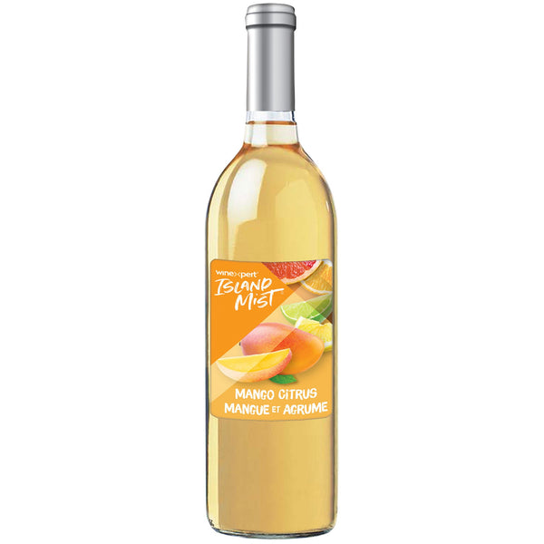 Mango citrus mist wine kit bottle with label