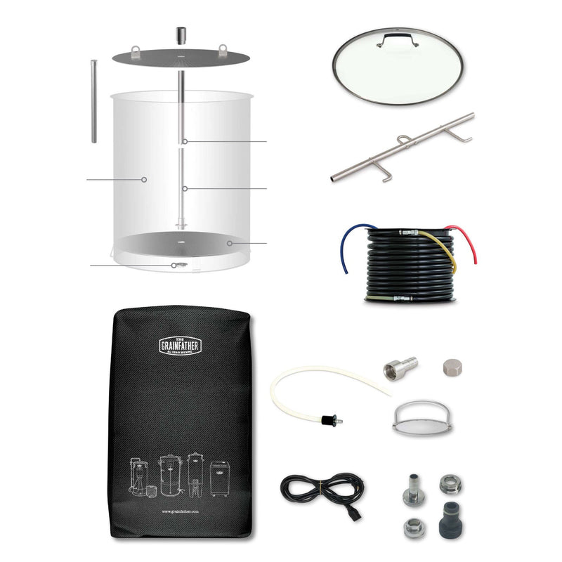 Grainfather g70 all in one brewing unit's parts