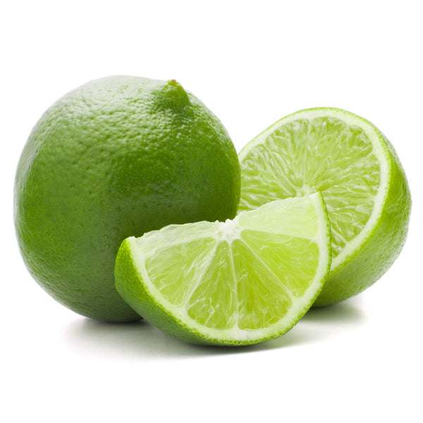 A whole, a half, and a quarter lime