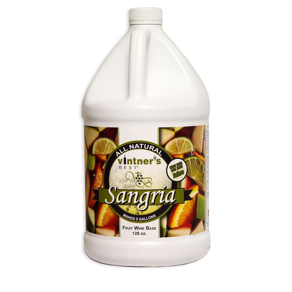 128-ounce jug of Vintner's Best Sangria Fruit Wine Base