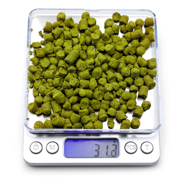Northern Brewer Brewing Scale with hops in place