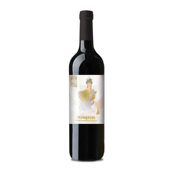 RJS RQ21 The Empress - Spanish Tempranillo Merlot bottle with label
