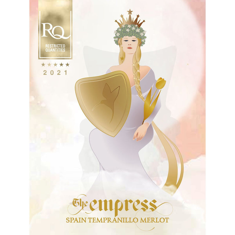 RJS RQ21 The Empress - Spanish Tempranillo Merlot label