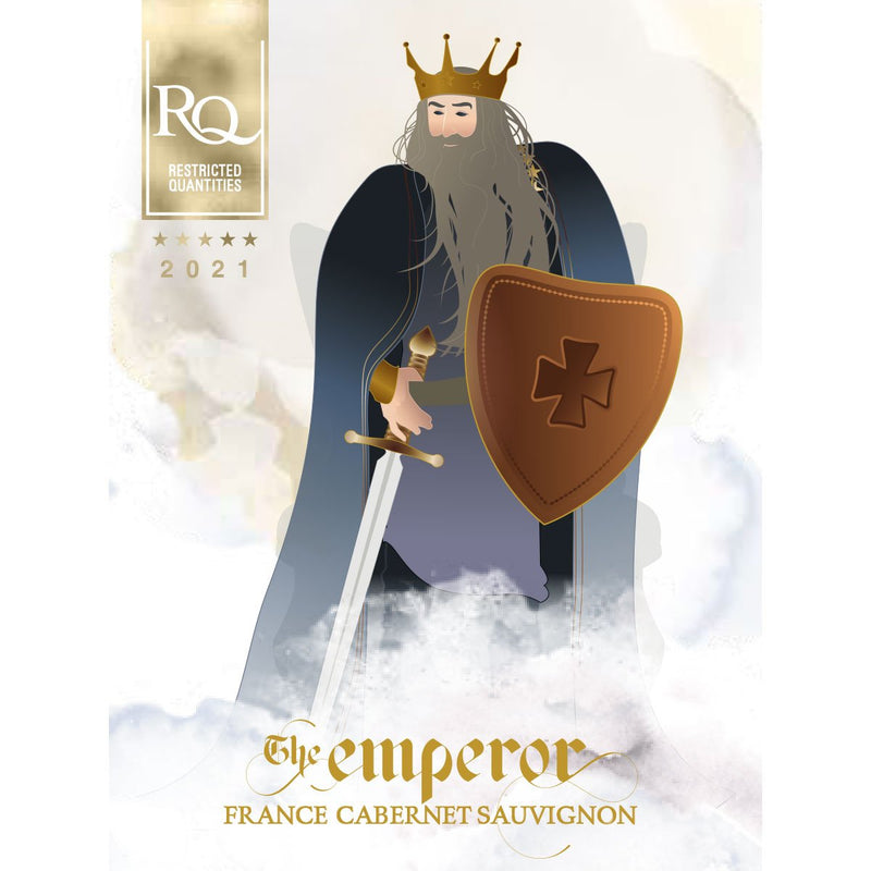 RJS RQ21 The Emperor - French Cabernet Sauvignon label