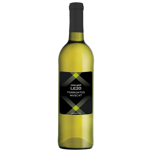 Winexpert Limited Edition LE20 Argentinean Torrontes Muscat White Wine Bottle with Label
