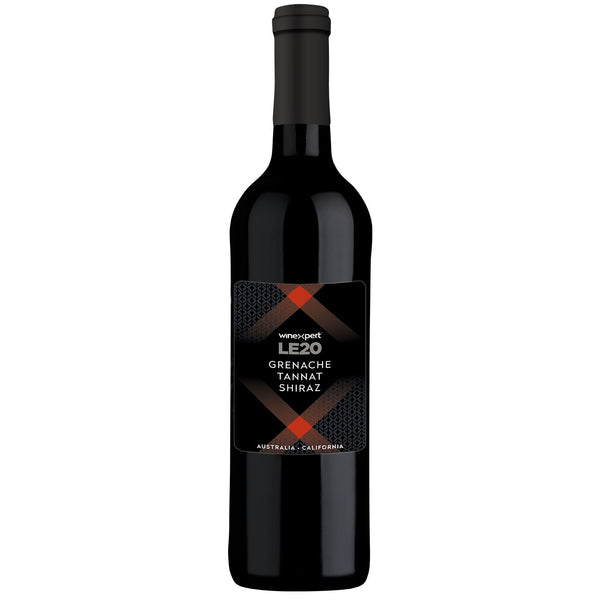 Winexpert Limited Edition LE20 Grenache Tannat Shiraz Red Wine bottle with label