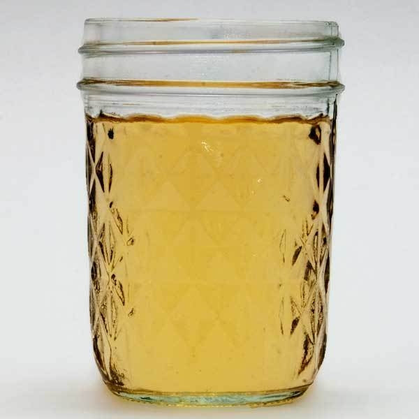 Jar filled with NB artisanal sack sweet mead