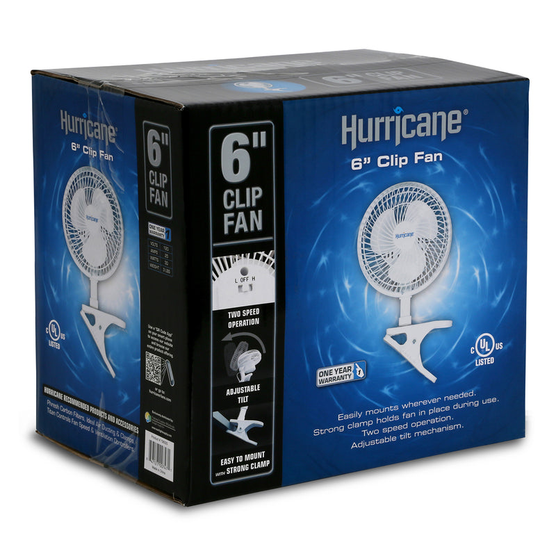 Box for the 6-inch clip-on hurricane fan