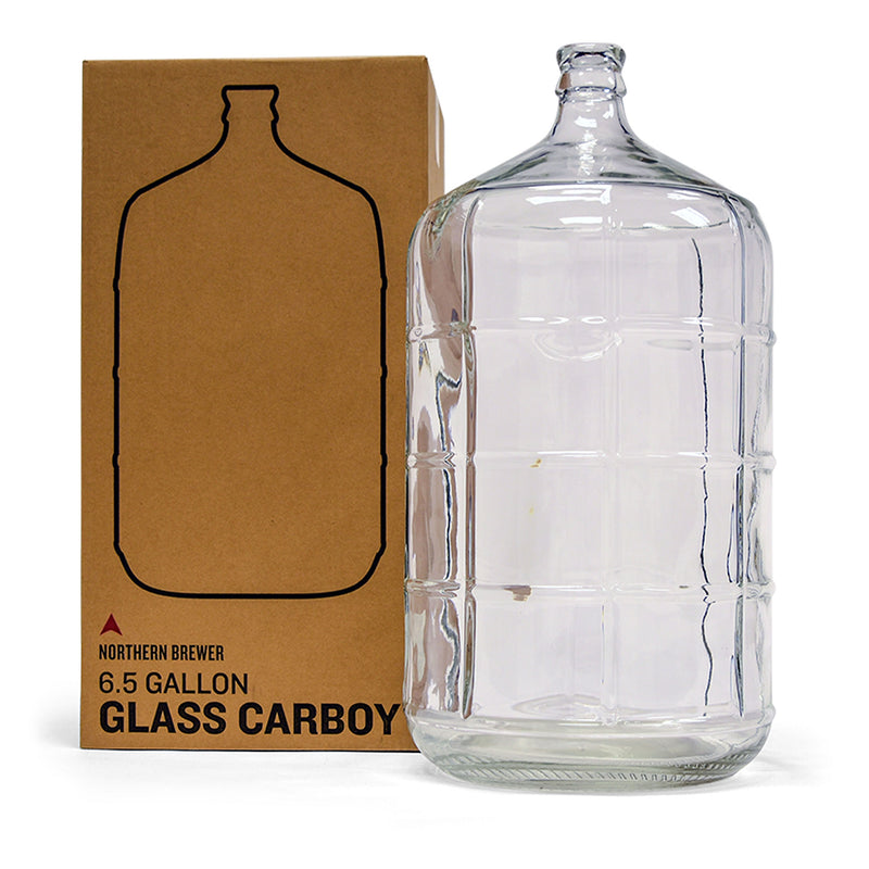 6.5 gallon glass carboy and packaging