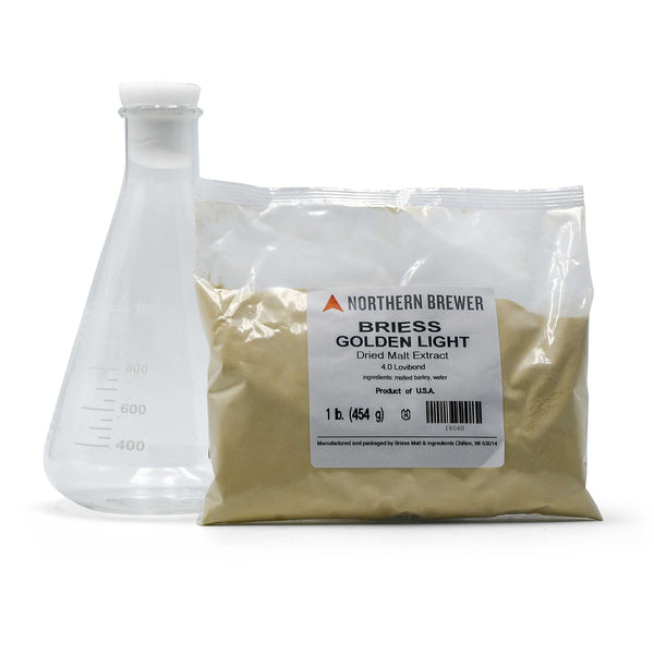 1-pound bag of Briess Golden Light DME and a 1-liter Erlenmeyer flask