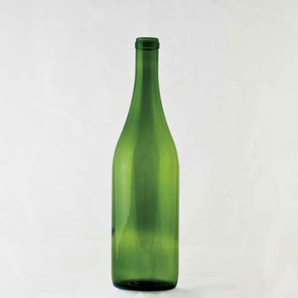 750ml Emerald Green Burgundy Wine Bottle