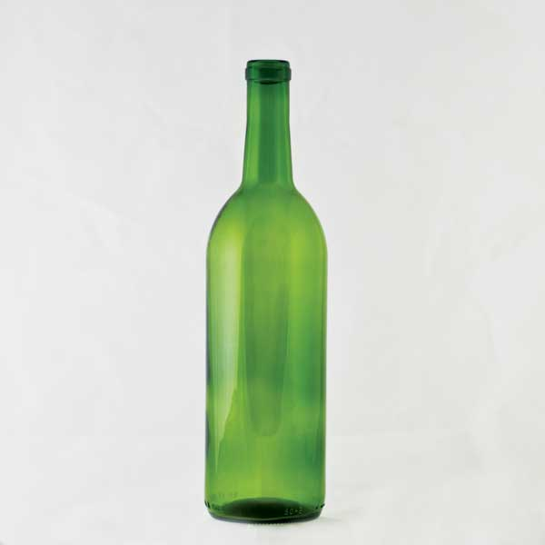 750 ml Emerald Green Claret Bordeaux Bottle