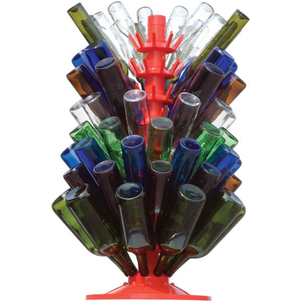 90 Bottle Drying Tree with Rotating Base in use