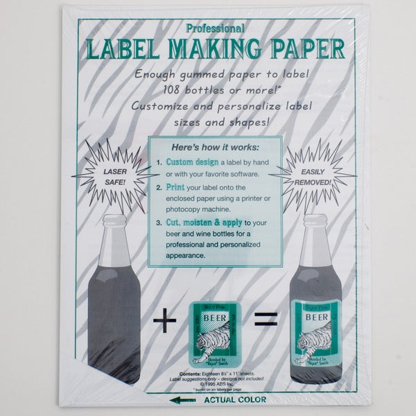 Label making paper's packaging