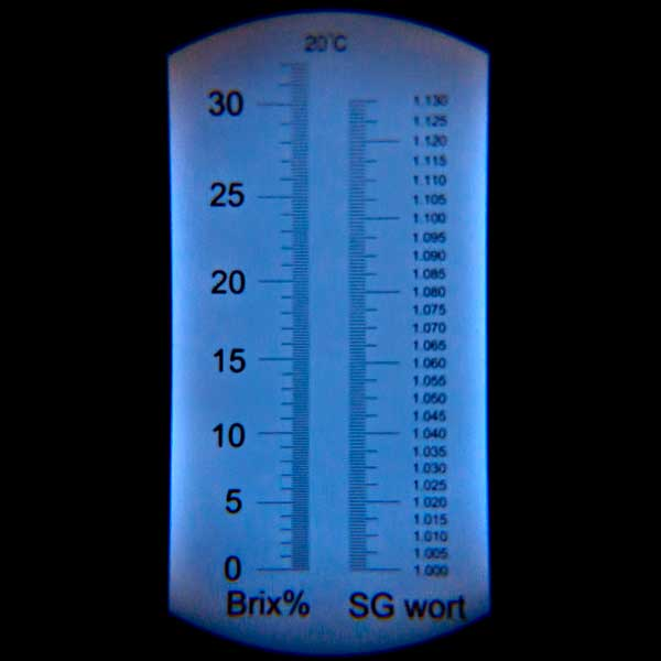 Refractometer ATC with Brix & SG Scale