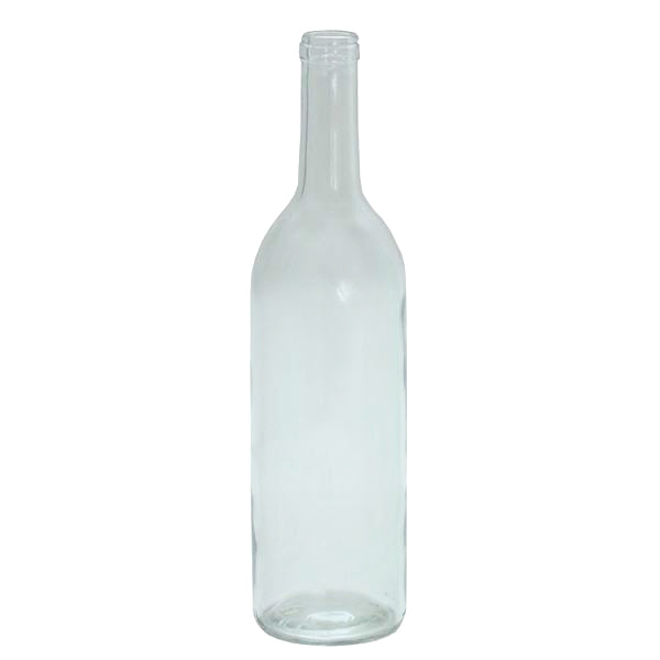 750 ml Clear Glass Claret/Bordeaux Wine Bottles, 12 per case