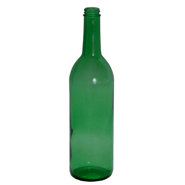 750 ml Green Glass Claret Bottles, screw top