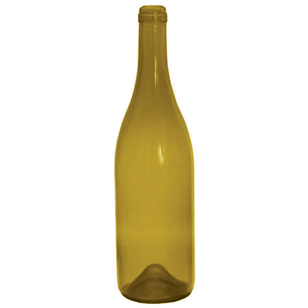 750 ml Punted Dead Leaf Green Burgundy Wine Bottle